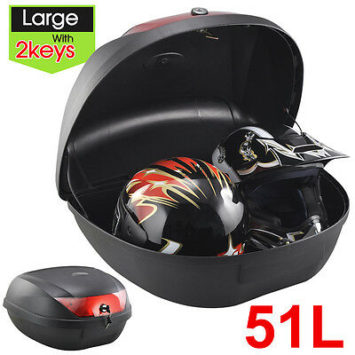 51L Universal Motorbike Helmet Top/Back Box Case Luggage Rear for Storage