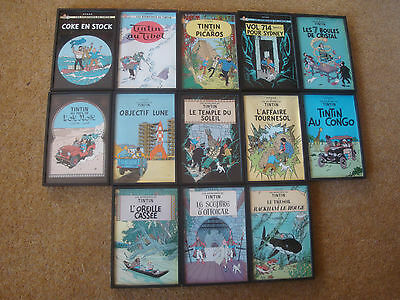 Selection of framed Tintin Book Cover Postcards - individual purchase