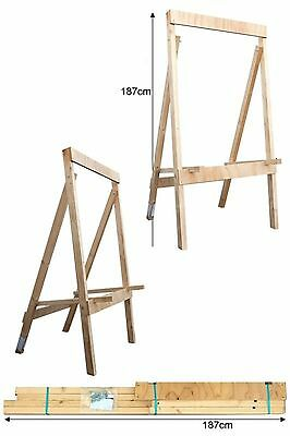 Avalon Archery Wooden Target Stand H Frame X Large