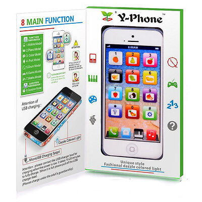 Baby Kid Child Educational Learning Mobile Phone Toy Musical Playing Kit Y-Phone