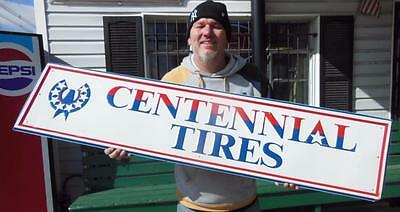 Centennial Tires Tin Advertising Sign Gas Oil Station Service Garage Advertising