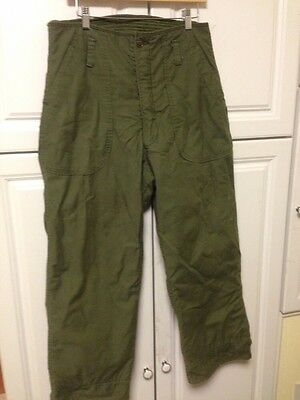 VINTAGE ORIGINAL US Army Navy COLD WEATHER PERMEABLE Medium Pants.