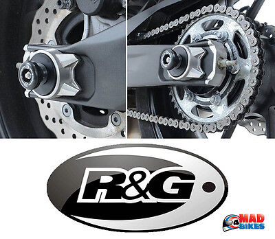 R&G Racing Rear Spindle Sliders / Bobbins for the Yamaha MT07 / MT-07 2014 to 18