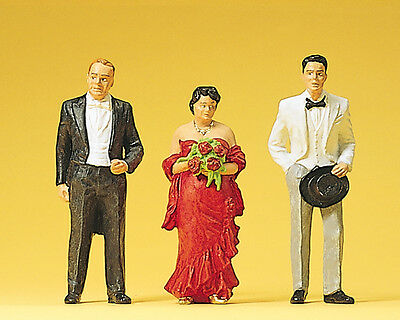 Preiser 1:22.5 G-scale 45042 Bride´s parents, witnes to a marriage, 3 fig. NIB !