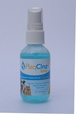 PlaqClnz 2oz Spray~Gives Your Dog Fresh Breath in 30 Seconds