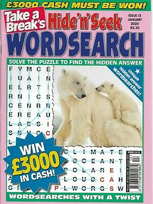 Take A Breaks Bumper Word Search Magazine With 90+ Puzzles Solutions In Back