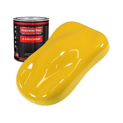 INDY YELLOW 1 Quart ACRYLIC LACQUER Car Auto Body Paint