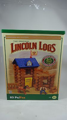 The Original Lincoln Logs Horseshoe Hill Station 83 Pieces Real Wood Logs
