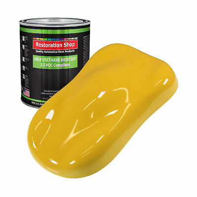 Canary Yellow 1 Gallon Low VOC URETHANE BASECOAT Car Auto Body Paint