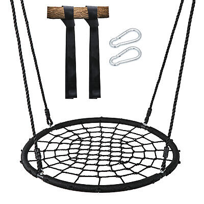 "Large 40"" Spider Web Tree Net Swing 100% Safe Nylon Rope Max 600 LBs EZ Setup"