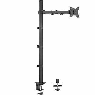 Single Monitor Mount Extra Tall Fully Adjustable Stand Fits One Screen up to 27""
