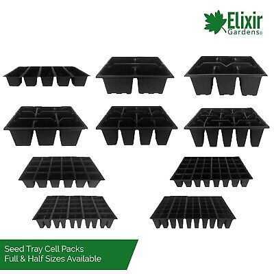 Full/Half Size Cell Packs 4, 6, 9, 12, 20, 24, 40, 60, 5 Strip Greenhouse Trays