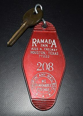 Vintage Ramada Inn North Freeway Houston, TX  Room #208  Room Key & Fob