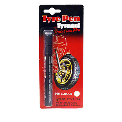 Tyreart Tyre Art Motorcycle Motorbike Race Tyre Wheel Marker Paint Pen White