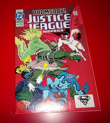 Justice League America #69 Doomsday! Down For The Count 1992 Great Condition