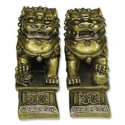 Chinese Feng Shui Temple Lions Fu Dogs
