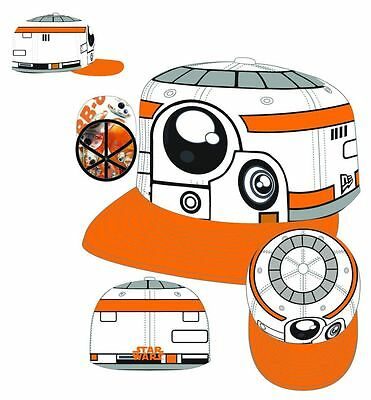 STAR WARS E7 BB-8 CHARACTER FACE 5950 7 3/8 FITTED CAP NEW w/ TAGS #sjan16-208