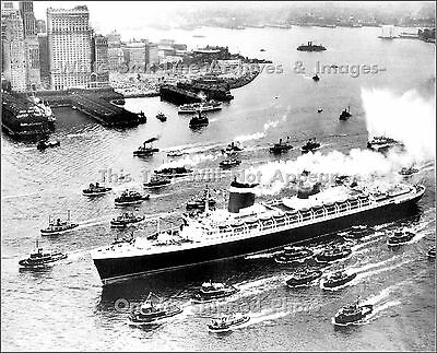 Photo: SS United States' Maiden Visit to New York City, June 23, 1952