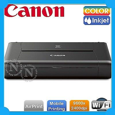 Canon PIXMA IP110w Portable Wireless A4 Mobile Wi-Fi Printer+AirPrint+1-Year Wty