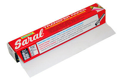 """White SARAL TRANSFER PAPER 12"""" Wide - 12' Roll Tracing Sketch Drawing Designs"""