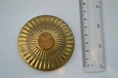 Original antique pressed brass furniture mount light lamp part fitting T28