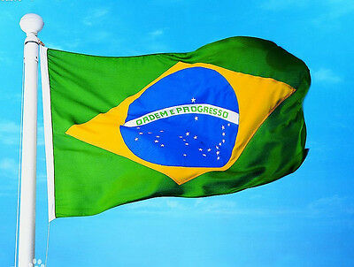 Waing bandeira do Brasil 3 x5' feet Brazil flag Hanging country flag high qualit