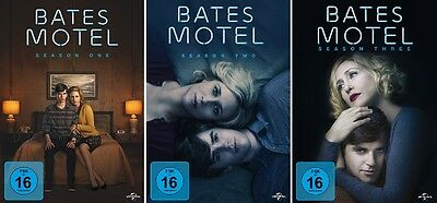 9 DVDs *  BATES MOTEL - STAFFEL / SEASON 1 - 3 IM SET  # NEU OVP +