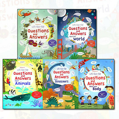 Lift the Flap Questions & Answers Collection Katie Daynes 5 Bookset Animals NEW