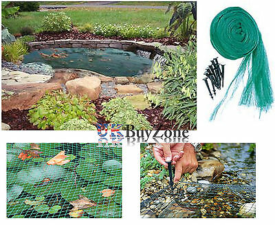 Pond Cover Safety Net Garden Koi Fish Pond Pool Netting Leaves Protector Pegs