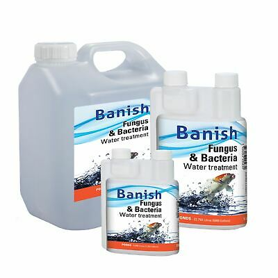 Banish Fungus And Bacteria Water Treatment Cure Koi Pond Disease Infection Fish