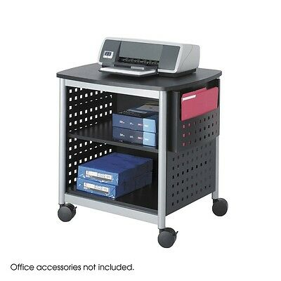 Safco 1856BL Scoot Desk Side Printer Stand, Black NEW