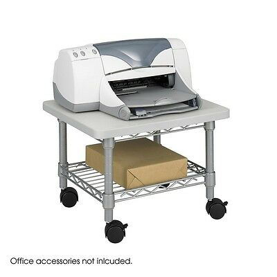 Safco 5206GR Underdesk Printer/Fax Stand, Gray NEW