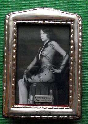 Beaded Edwardian Design Hallmarked Sterling Silver Photo Frame : Xmas Valentines