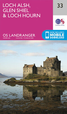 Loch Alsh Glen Shiel Loch Hourn Landranger Map 33 Ordnance Survey 2016