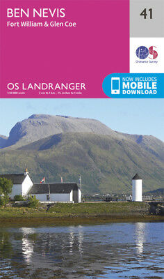 Ben Nevis Fort William Glen Coe Landranger Map 41 Ordnance Survey 2016
