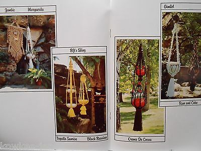 Sip of Macrame: lots of plant or pot hangers.   Vintage patterns - see pics