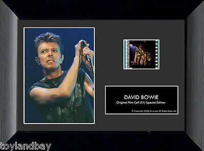 Film Cell Genuine 35mm Framed & Matted David Bowie USFC2243 Special Edition