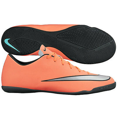 Nike Mercurial Victory IV IC Indoor Soccer SHOES 2016 Mango /Silver Kids Youth