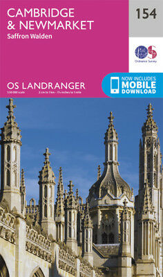 Cambridge Newmarket & Saffron Walden Landranger Map 154 Ordnance Survey Latest