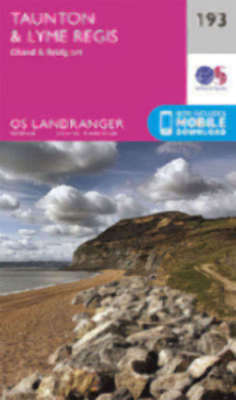 Taunton & Lyme Regis Chard & Bridport Landranger Map 193 Odnance Survey 2016