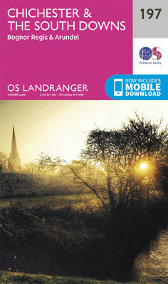 Chichester & The South Downs Landranger Map 197 OS 2016