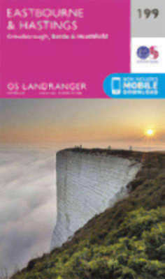 Eastbourne & Hastings Battle Heathfield Landranger Map 199 Odnance Survey 2016