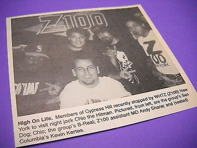 CYPRESS HILL at radio station WHITZ New York 1993 promo image with text