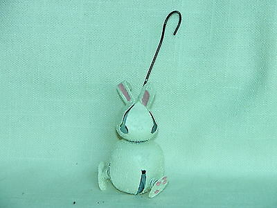 Collect-A-Bells White Bunny Rabbit with Pink Ears-Jingle-Garden-Plants