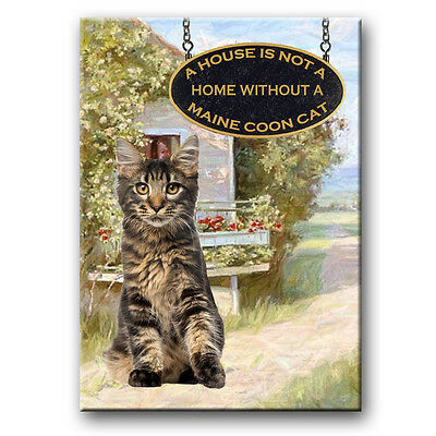MAINE COON CAT A House is Not a Home Fridge Magnet No 3