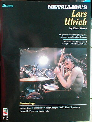 Metallica's Lars Ulric by Dino Fauci Book + CD published by the Cherry Lane
