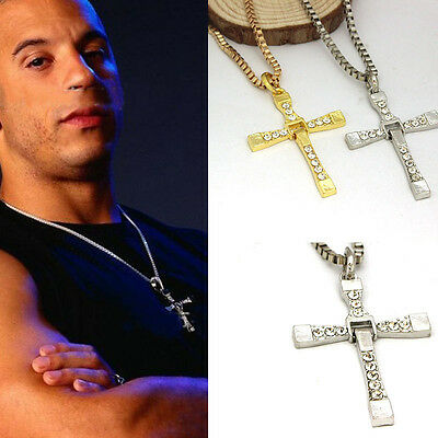 Wholesale Lots Costume Jewellery Stainless Steel Cross Pendant Necklace Chain