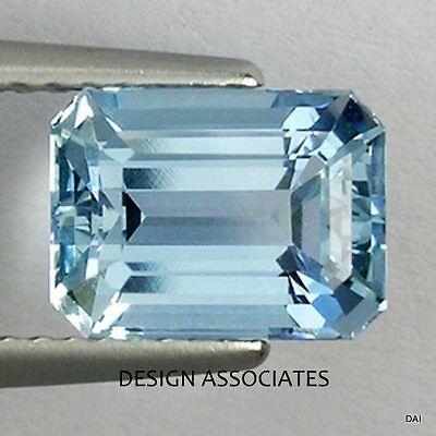 Aquamarine 6X4 Mm Emerald Cut Outstanding Blue Color All Natural