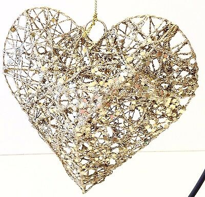Heart Ornament Decoration Sparkle Valentines Day Gift