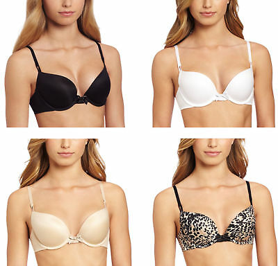 Maidenform 9406 Comfort Devotion Underwired Demi Plunge Push Up Bra New Lingerie